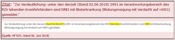 von-Willebrand Zitat RZV-Homepage